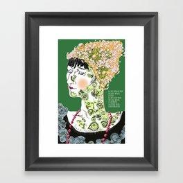 Anna Achmatova Framed Art Print