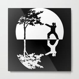 Qigong Martial Art Meditation Reflection Metal Print