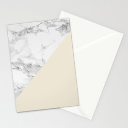 Marble + Pastel Cream Stationery Cards
