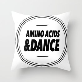 Amino Acid & Dance Throw Pillow
