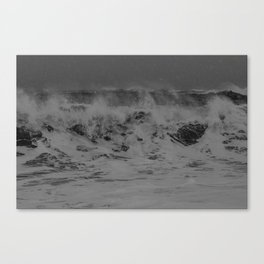 waves. iceland. Canvas Print