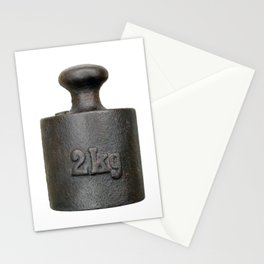 Old balance weight - two kilograms Stationery Cards