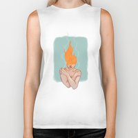 lorde Biker Tanks featuring Your head caught flame by Sweet Demise Designs