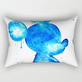 Blue Mouse Rectangular Pillow