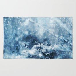snowy winter scene Rug