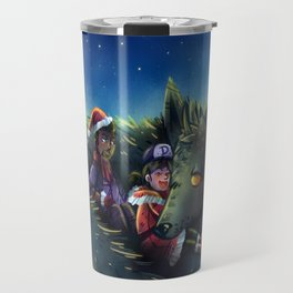 Snowy Wolf Travel Mug