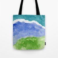 salt water Tote Bags featuring Salt Water by Beth Thompson