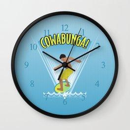 Cowabunga Flow-boarding Pop Art Wall Clock