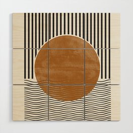 Abstract Modern Poster Wood Wall Art