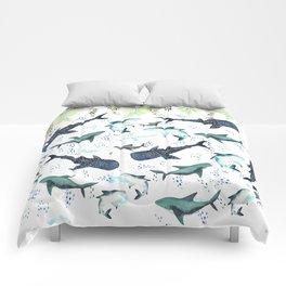 floral shark pattern Comforters