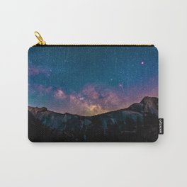 Blue Purple Star Galaxy Mountains Carry-All Pouch