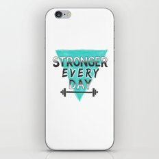 Stronger Every Day (barbell) iPhone & iPod Skin