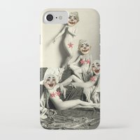 nudes iPhone & iPod Cases featuring RECLINING NUDE CLOWNS (censored) by Julia Lillard Art