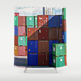 Colorful containers II Shower Curtain