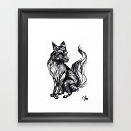 Foxy Two Framed Art Print