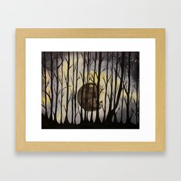 The Forest at Night Framed Art Print