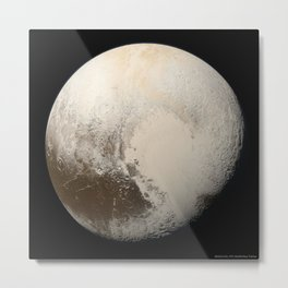 1581. Pluto in True Color  Metal Print