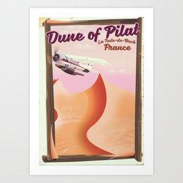 Dune of Pilat, France vintage poster Art Print