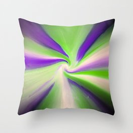 Green and Purple Abstract Art Throw Pillow