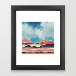 Pink Desert Glow Framed Art Print