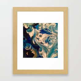 Ocean Swirl Framed Art Print