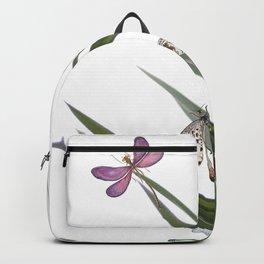 Cactus Dragonflies Tropical Art Print Backpack