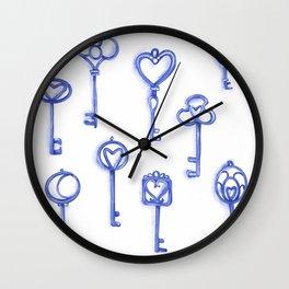 Blue keys Wall Clock