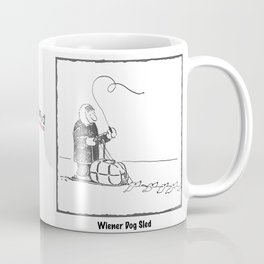 Wiener Dog Sled Coffee Mug