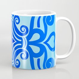HUNGARIAN ORNAMENTS - Femininity mandala in blue Coffee Mug