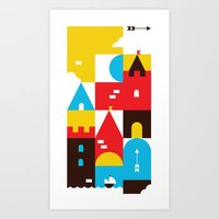 castle Art Prints featuring Castle by koivo