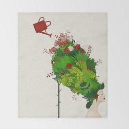 Rococo: The Gardener Throw Blanket