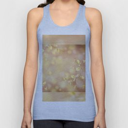Many young spring leaves on blurred background Unisex Tank Top