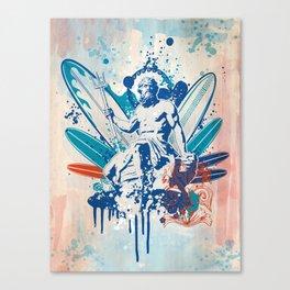 Poseidon surfer  Canvas Print