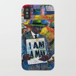 African American Atlanta Civil Rights Memorial Portrait No. 1 iPhone Case