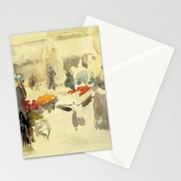 Flower Market By James Mcneill Whistler | Reproduction Stationery Cards