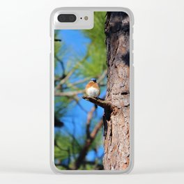 Bluebird On Little Branch Clear iPhone Case