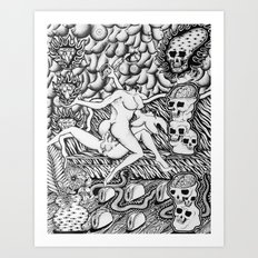 Murder/Suicide at the Sex Party Art Print