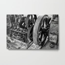 Novo Antique Gas Engine Metal Print