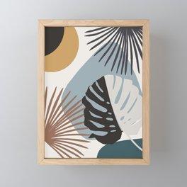 Minimal Yin Yang Monstera Fan Palm Finesse #3 #tropical #decor #art #society6 Framed Mini Art Print