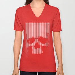Skull Lines Unisex V-Neck