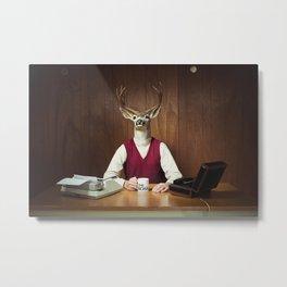 Deer Boss Metal Print