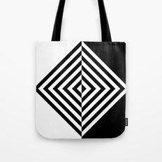 Black and White Concentric Diamonds Tote Bag