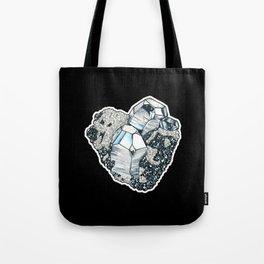 Hematite Crystal Cluster Tote Bag