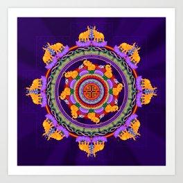 The Lu Mandala; Prosperity & Success Art Print