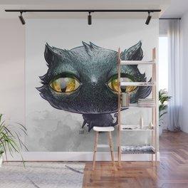 Dumb Black Cat Wall Mural
