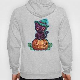 Ferociously Cute Halloween Vampire Witch Kitty Cat Hoody