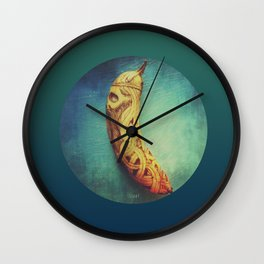 Viking Skull Banana Wall Clock
