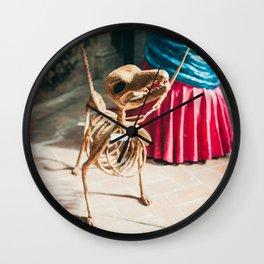 Skeleton dog Wall Clock