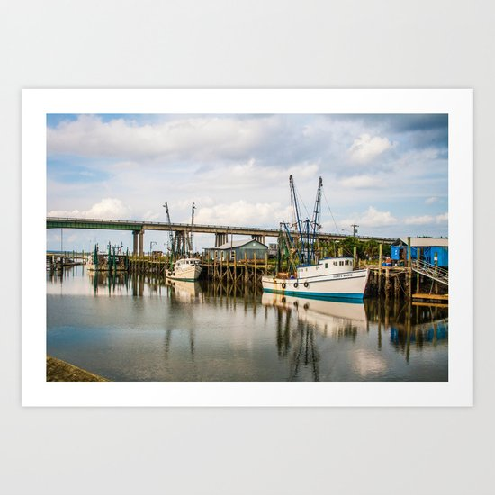 At the Dock Art Print