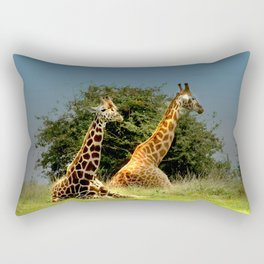 Giraffes Rectangular Pillow